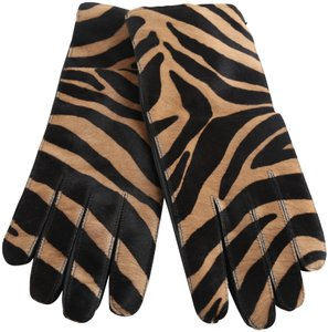 Burberry Burberry Zebra print Calf Hair and Leather Gloves