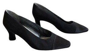 Stuart Weitzman Vintage Cap Toe Pointed Toe Black Pumps
