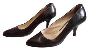 Prada Leather Pointed Brown Pumps