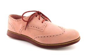 Cole Haan Round Toe Comfy Lunargrand Lace Up Walking Pastel Pink Flats