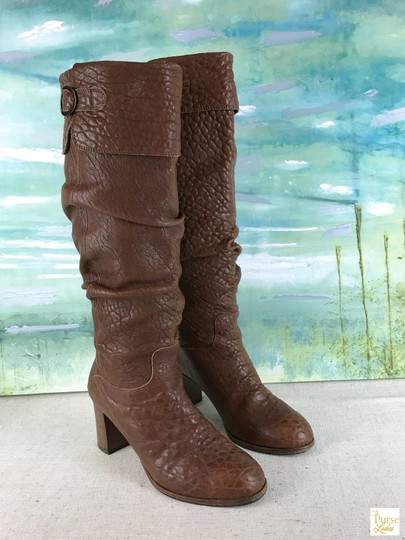 Fendi Leather Knee High Brown Boots Image 1