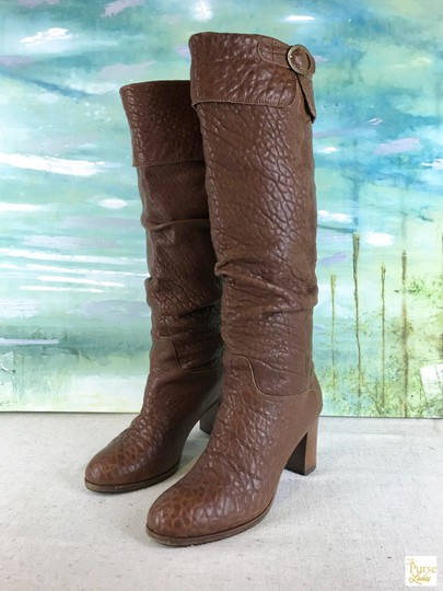Fendi Leather Knee High Brown Boots Image 2