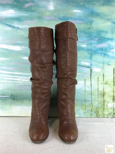 Fendi Leather Knee High Brown Boots Image 3