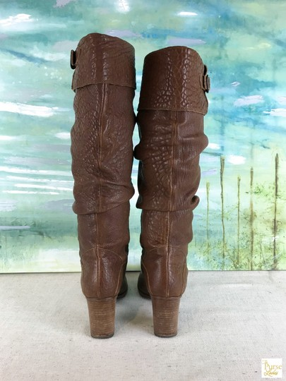 Fendi Leather Knee High Brown Boots Image 4