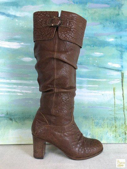 Fendi Leather Knee High Brown Boots Image 5