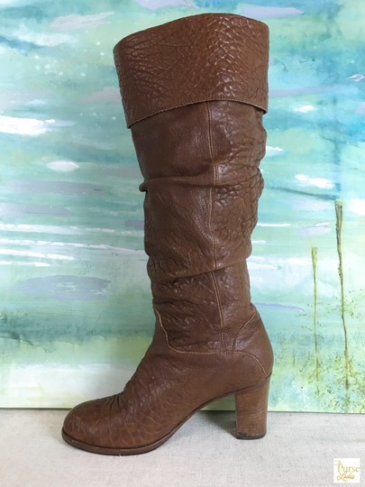 Fendi Leather Knee High Brown Boots Image 6