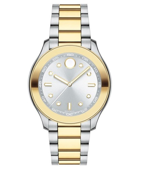 Movado Bold Two Tone Stainless Steel Midsize Womens 3600418 Image 8