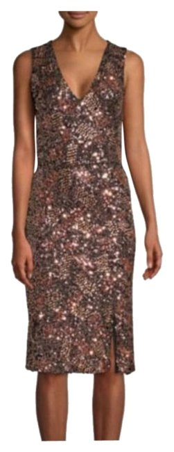Item - Rose Gold Sequins Mid-length Night Out Dress Size 10 (M)