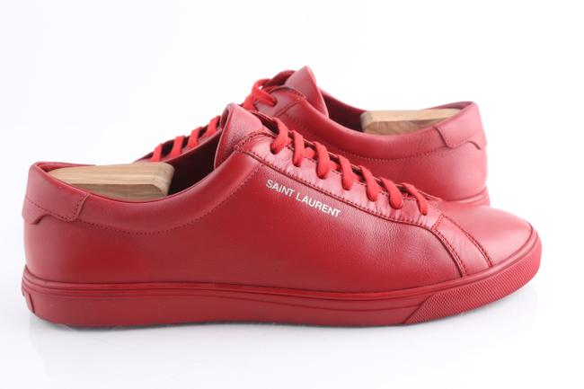 Item - Red Andy Leather Low-top Sneakers Shoes