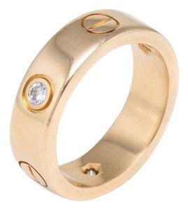 Cartier Cartier 3 Diamond 18k Yellow Gold Love Ring