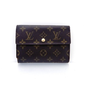Louis Vuitton Continental Monogram Canvas Leather Clutch Trifold Wallet - item med img