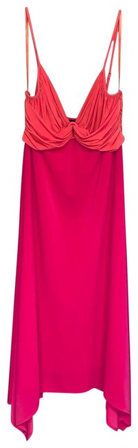 Item - Pink and Orange Mid-length Cocktail Dress Size 4 (S)