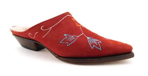 Charlie 1 Horse Lucchese Flower Cowboy One Comfy Red Mules