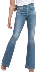 AG Adriano Goldschmied High Rise High Waist Vintage Flare Leg Jeans-Distressed