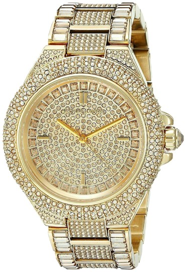 Preload https://img-static.tradesy.com/item/25983141/michael-kors-gold-camille-stainless-steel-pave-crystal-mk5720-watch-0-2-540-540.jpg