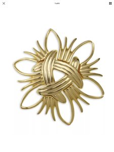 Kenneth Jay Lane GOLD WOVEN BROOCH PIN