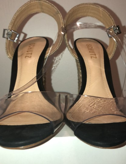 SCHUTZ natural wedge with clear straps Wedges Image 2