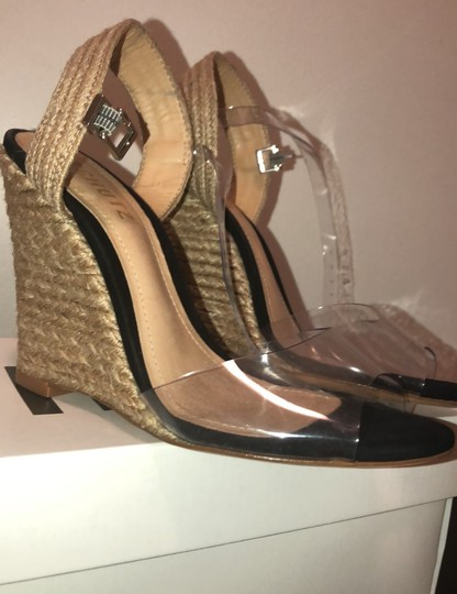SCHUTZ natural wedge with clear straps Wedges Image 6