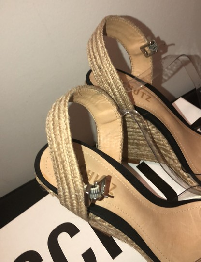 SCHUTZ natural wedge with clear straps Wedges Image 7