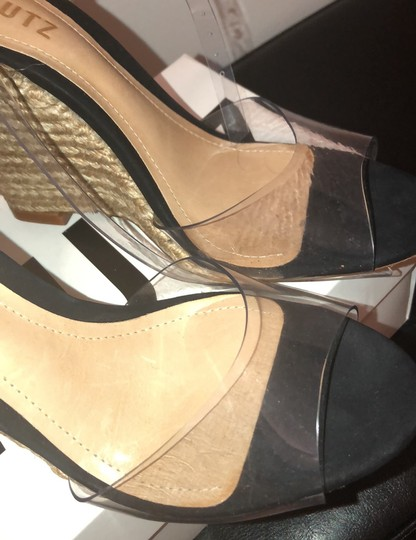 SCHUTZ natural wedge with clear straps Wedges Image 8