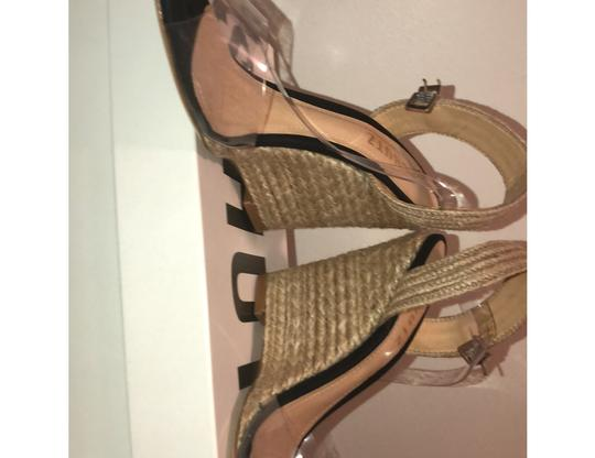 SCHUTZ natural wedge with clear straps Wedges Image 9
