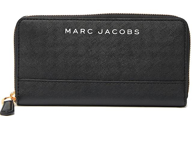 Item - Black with Tag Branded Saffiano Standard Continental Wallet