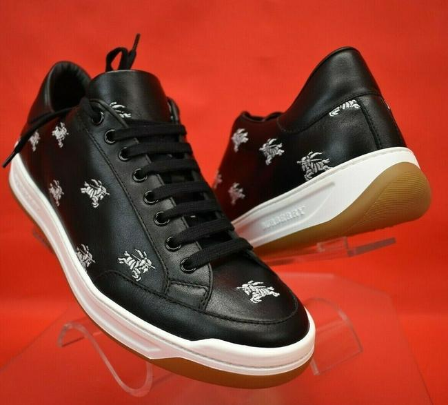 Item - Black Runway Timsbury Knight Embroidered Leather Sneakers Eu 44 Us 11 Shoes
