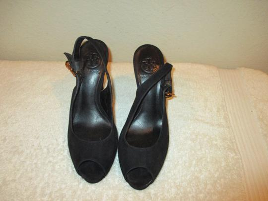 Tory Burch Black with gold Platforms Image 10