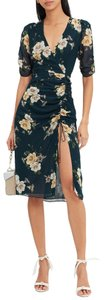 NICHOLAS Midi Floral Ruched Wrap Blogger Dress