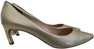 Nicholas Kirkwood Pointed Toe Leather Pearl Gold Pumps