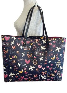 Tory Burch Tote in Navy/Multi