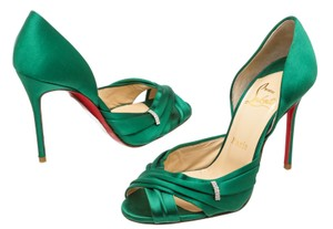 Christian Louboutin Oprah Satin Pump Green Formal