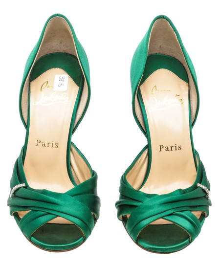 Christian Louboutin Oprah Satin Pump Green Formal Image 1