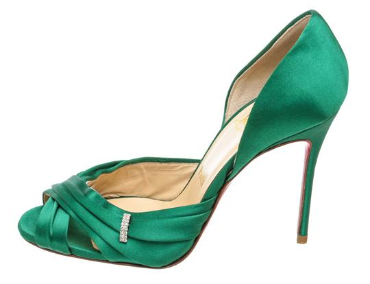 Christian Louboutin Oprah Satin Pump Green Formal Image 3