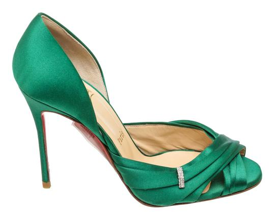 Christian Louboutin Oprah Satin Pump Green Formal Image 4