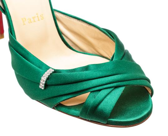 Christian Louboutin Oprah Satin Pump Green Formal Image 7