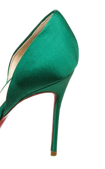 Christian Louboutin Oprah Satin Pump Green Formal Image 8