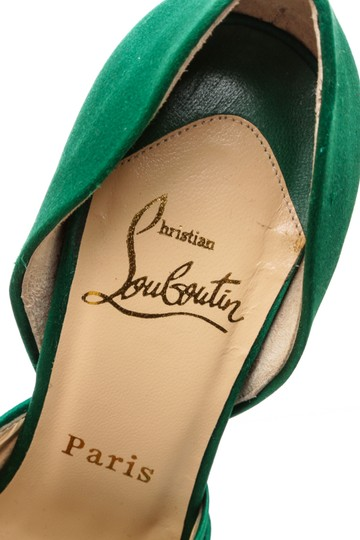 Christian Louboutin Oprah Satin Pump Green Formal Image 9