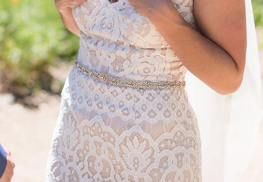 BHLDN Gold Nyra Fitted Size S Sash Image 1