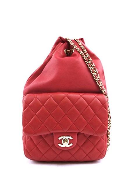 Item - Rare Pinkish Red Lambskin Leather Backpack