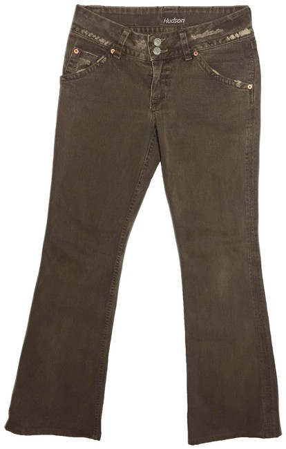 Item - Brown Baby Flap Pocket Women's Boot Cut Jeans Size 27 (4, S)