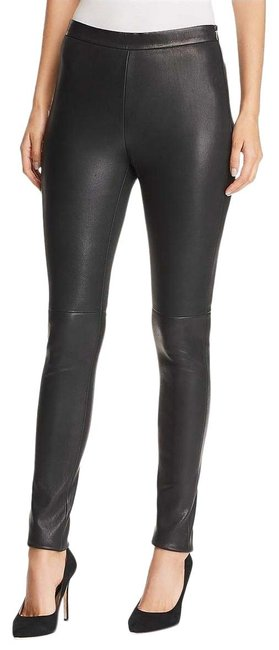 Item - Black Women Coated High Rise Leather New Pants Size 6 (S, 28)