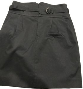 Club Monaco Mini Belted Mini Skirt Black