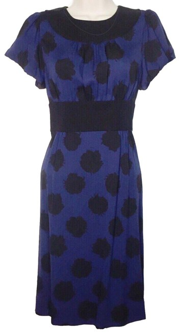 Preload https://item1.tradesy.com/images/diane-von-furstenberg-blue-and-black-silk-dale-empire-waist-mid-length-workoffice-dress-size-4-s-25984405-0-3.jpg?width=400&height=650