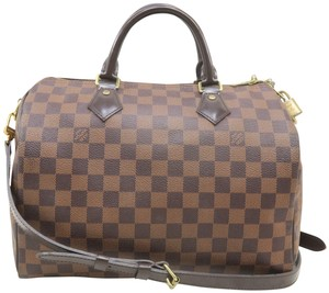 Louis Vuitton Lv Speedy Canvas Bandonliere 30 Satchel in Brown