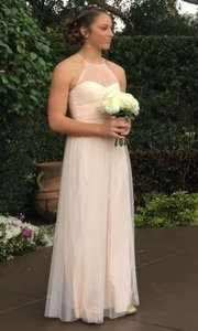 Amsale Blush Pink Gown: Maids G980u Formal Bridesmaid/Mob Dress Size 10 (M)