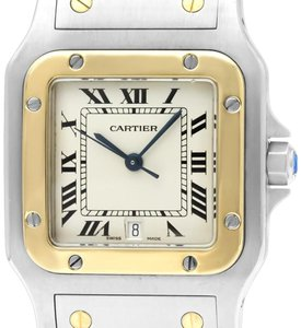 Cartier Cartier Santos Galbee Mens Two-Tone Bracelet Watch with Date - Stainle