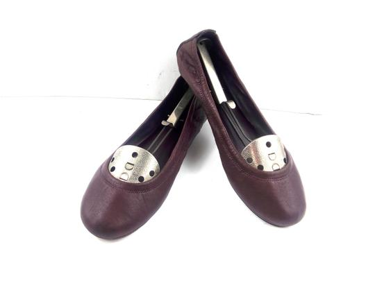 Tory Burch Ballet Burgundy Red Flats Image 0