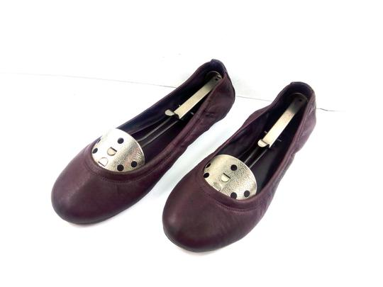 Tory Burch Ballet Burgundy Red Flats Image 3