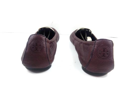 Tory Burch Ballet Burgundy Red Flats Image 4